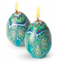 African Egg Candles - Set of 2