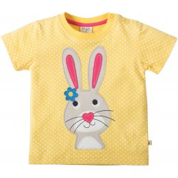 Frugi Little Cove Yellow Rabbit T-Shirt