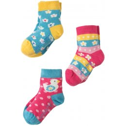 Frugi Little Flower Socks - Pack of 3