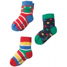 Frugi Little Frog  Socks - Pack of 3