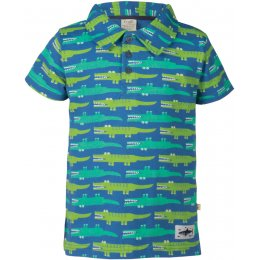 Frugi Penwith Polo Shirt - Crocodile