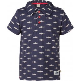 Frugi Penwith Polo Shirt - Shark