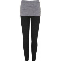 Asquith Bamboo Smooth You Leggings - Black & Pale Grey Marl