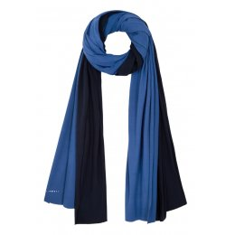Asquith Bamboo Scarf - Navy & Sky Blue