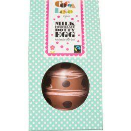 Cocoa Loco Milk Chocolate & Raspberry Swirl Dotty Easter Egg - 225g