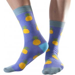 Doris & Dude Womens Pineapples Bamboo Socks - Size 3-7