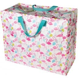 Recycled Jumbo Storage Bag - Flamingo Bay