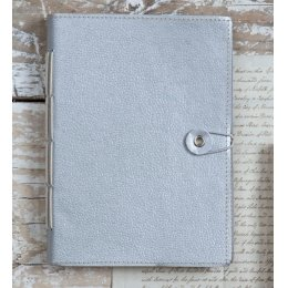 Naari Hand Stitched Silver Notebook - Large