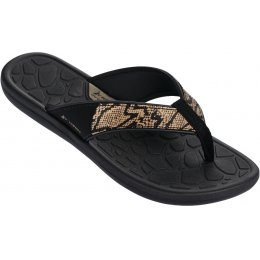 Rider Womens Cloud IV Sandals - Black & Snakeskin