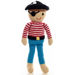 Fair Trade Crochet Pirate Doll Toy