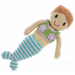 Fair Trade Crochet Mermaid Doll Toy