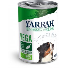 Yarrah Organic Vegan Chunks for Dogs - Cranberries Tinned 380G