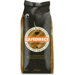 Cafedirect Arabica Espresso Whole Coffee Beans - 1kg
