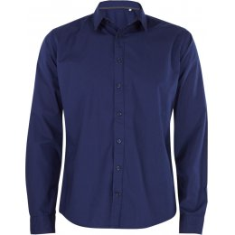 Organic Cotton Casual Long Sleeve Shirt - Mid Navy