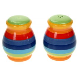 Hand Painted Rainbow Salt & Pepper Set
