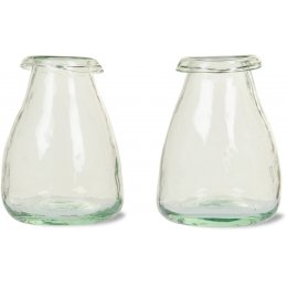 Recycled Glass Bud Vase - set of 2
