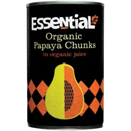 Essential Trading Organic Papaya Chunks in Juice - 400g