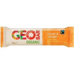 Fairtrade Carrot & Ginger Organic Geobar - 40g