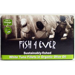 Fish 4 Ever White Tuna Fish in Organic Olive Oil - 120g