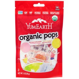 YumEarth Organic Lollipops Assorted Flavours - 14 Pops