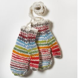 Womens Hoxton Stripe Mittens - Multi Coloured