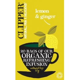 Clipper Lemon & Ginger Tea 20 Bags