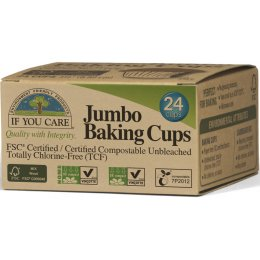If You Care Compostable Unbleached Baking Cups - Jumbo