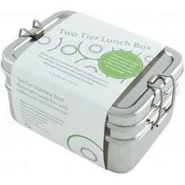 A Slice Of Green Large Rectangle Lunch Box with Mini Container