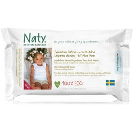 Naty Aloe Vera Sensitive Wipes - Pack of 56