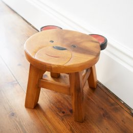 Fair Trade Childrens Bear Stool