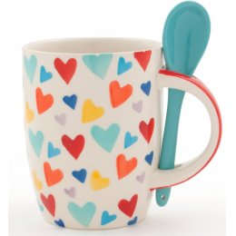 Handmade Heart Mug & Spoon