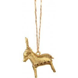 Hanging Dhokra Recycled Deer Decorations - Set of 4