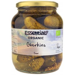 Essential Trading Organic Sour Gherkins - 680g