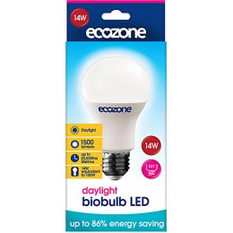 Ecozone E27 Daylight LED Biobulb - 14 Watt - 100 Watt Equivalent