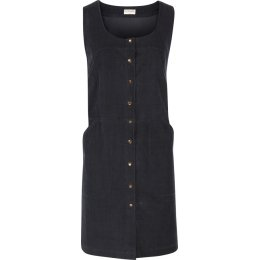 Nomads Popper Front Cord Pinafore - Pewter