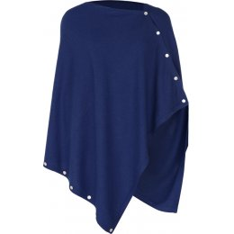 Nomads Knitted Poncho - Navy