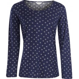 Nomads Organic Cotton Stella Long Sleeved Pyjama Top - Indigo