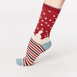 Thought Snowman Bamboo Socks