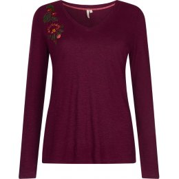 Komodo Catina Embroidered Hemp T-Shirt - Wine