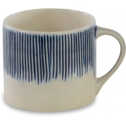 Karuma Blue & White Ceramic Mug - Short