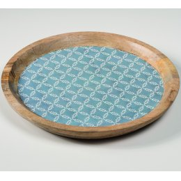 Large Moroccan Mango Wood Plate