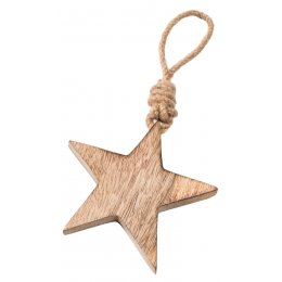 Small Wooden Hanging Star
