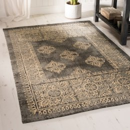 Handprinted Cotton Rug - 120 x 180cm