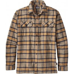 Patagonia Mens Migration Plaid Fjord Flannel Shirt - Mojave Khaki