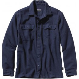 Patagonia Mens Fjord Flannel Shirt - Navy Blue