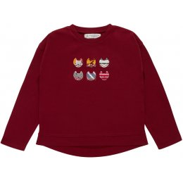 Sense Organics Shanti Long Sleeve Shirt - Cat Applique
