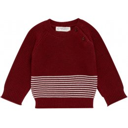 Sense Organics Victor Baby Sweater - Bordeaux Stripes