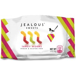 Jealous Sweets Vegan Tangy Worms - 40g