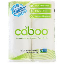 Caboo Bamboo & Sugarcane Kitchen Roll - Pack of 2