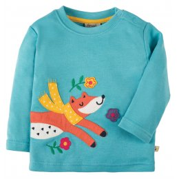 Frugi Little Discovery Fox Applique Top